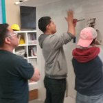 Skills training in drywall repair going on this afternoon!