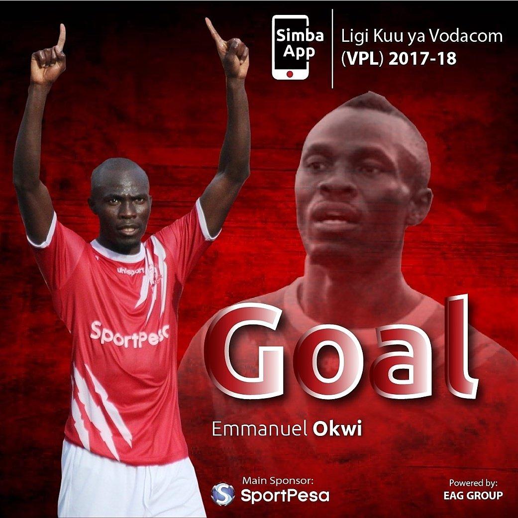 55' Emmanuel Okwi anafunga goli la kwanz...