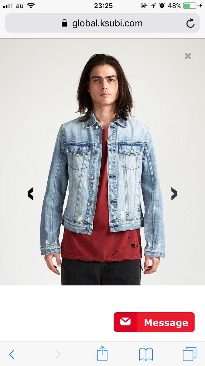 永田がいいって言ってたksubiのデニムジャケット、この色なら俺が似合いそうまで...