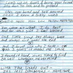 RT @ThatEricAlper: Handwritten lyrics to Nirvana's...