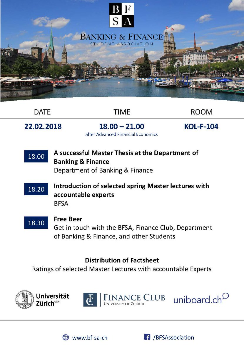 uzh master thesis banking and finance