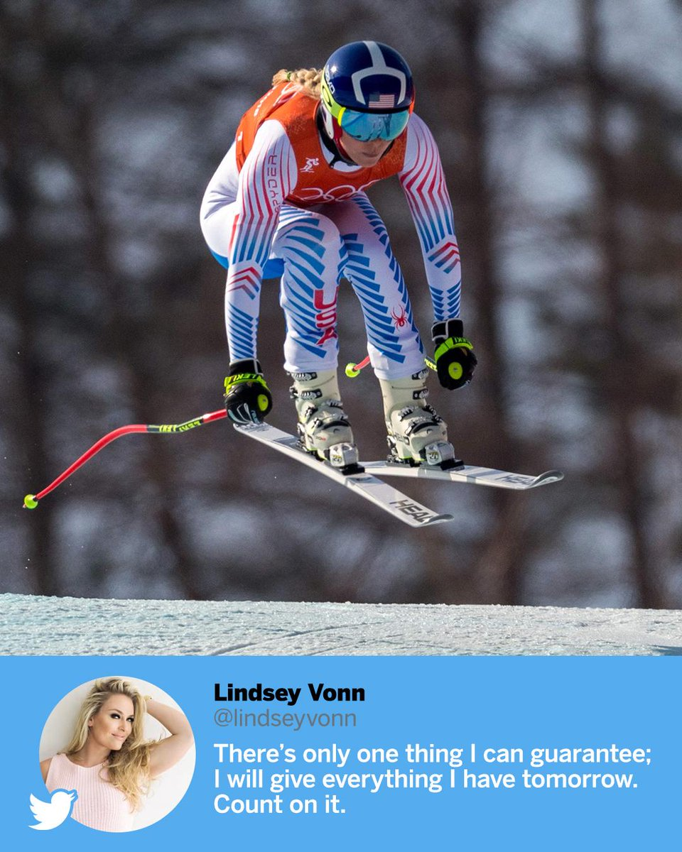 Lindsey Vonn makes a promise before comp...