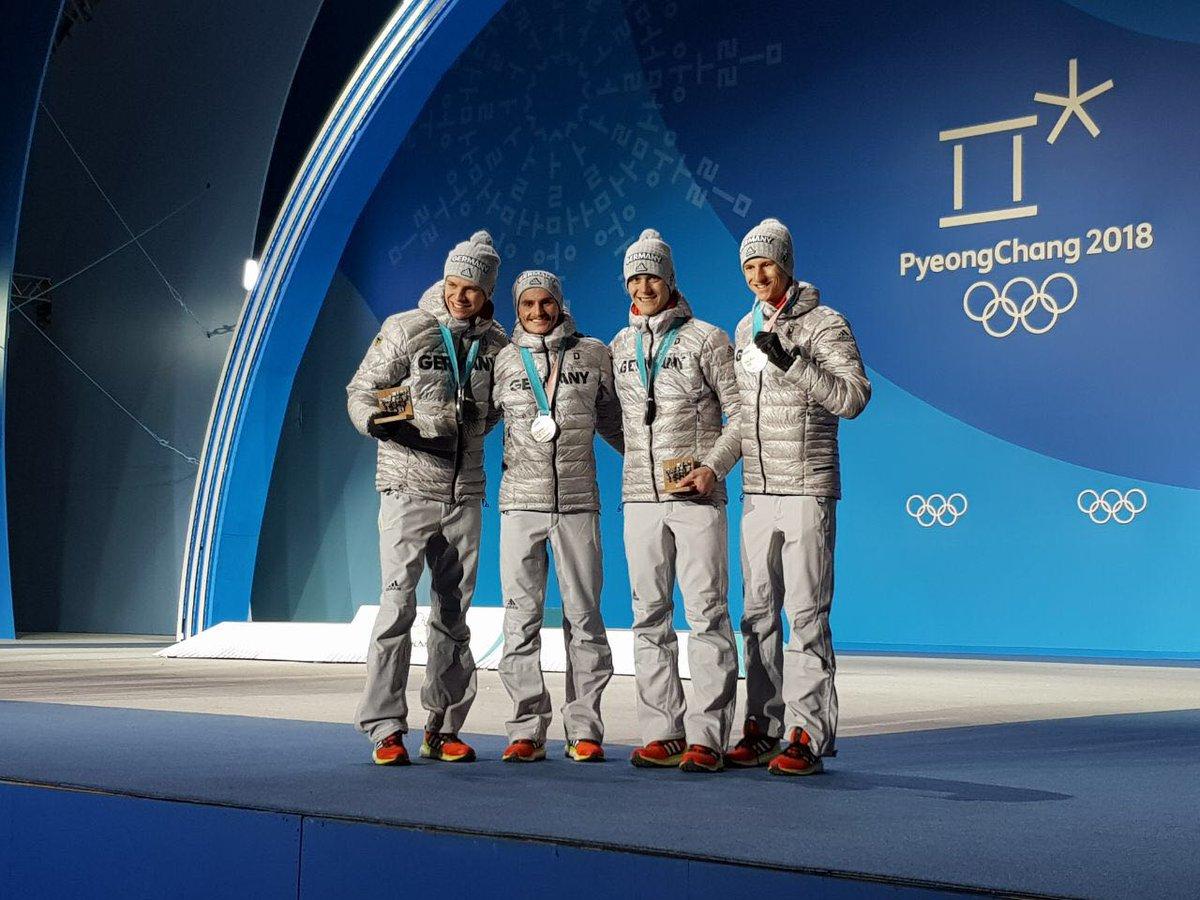 Da ist das Ding 😃🥈 #PyeongChang2018 #Wir...