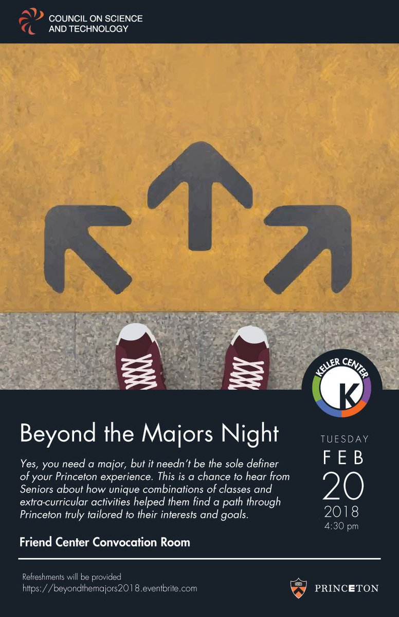 your major does not need to dictate your full princeton experience nor decide your career path check out this great event tonight to learn more