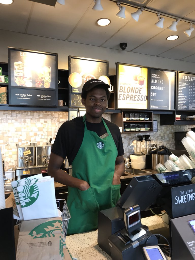 I just had an awesome experience @Starbucks at Eastgate in Chapel Hill, NC. Caleb has a degree in zoology and asks his customers what their favorite animal is. He gives them facts while completing their orders! Thanks for making my day, Caleb!!! cc @DNLee5