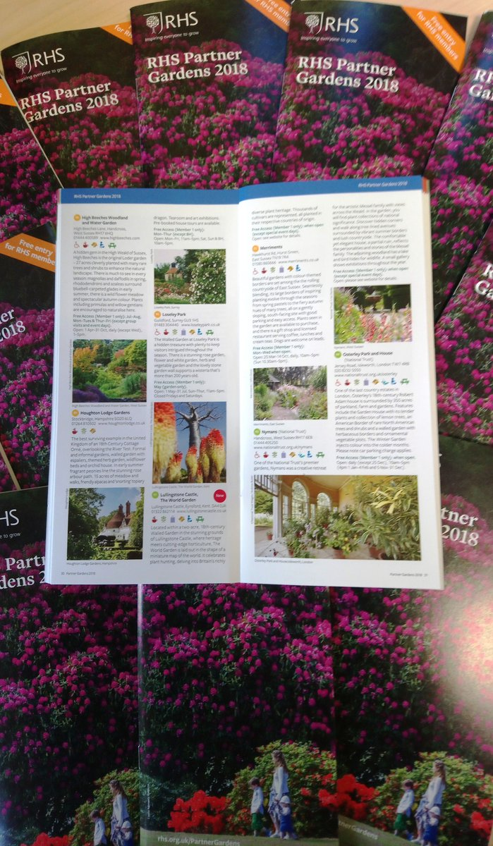 Always excited to receive the @The_RHS Partner Gardens leaflet. It means summer isn't far away and we can plan visits to so many beautiful gardens. Loseley is on page 30 and RHS members can visit for free through May (Sunday to Thursday). Roll on summer!