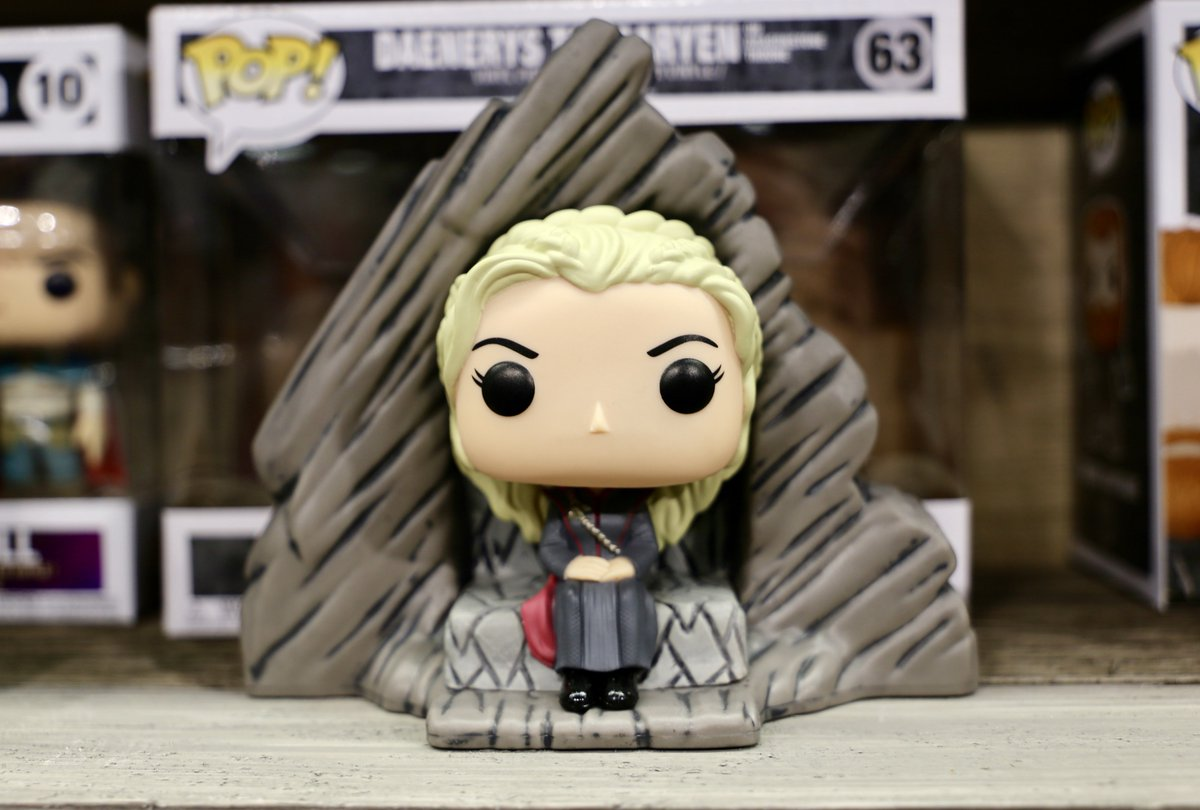 """I was born to rule the Seven Kingdoms and I will."" The Daenerys @OriginalFunko Pop! is at #NYTF2018 booth #5305 today."