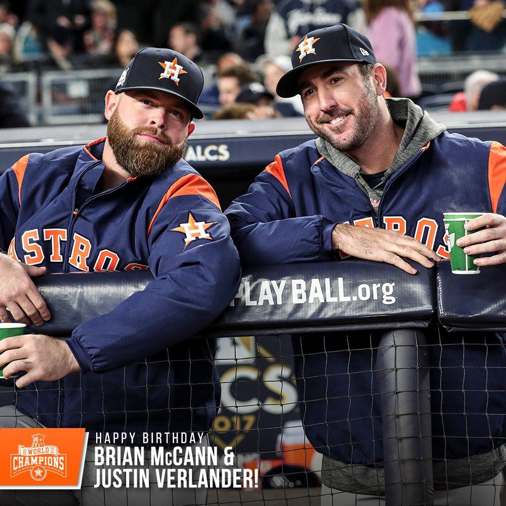 Happy birthday to the 🔋, Brian McCann and @JustinVerlander! 🎉
