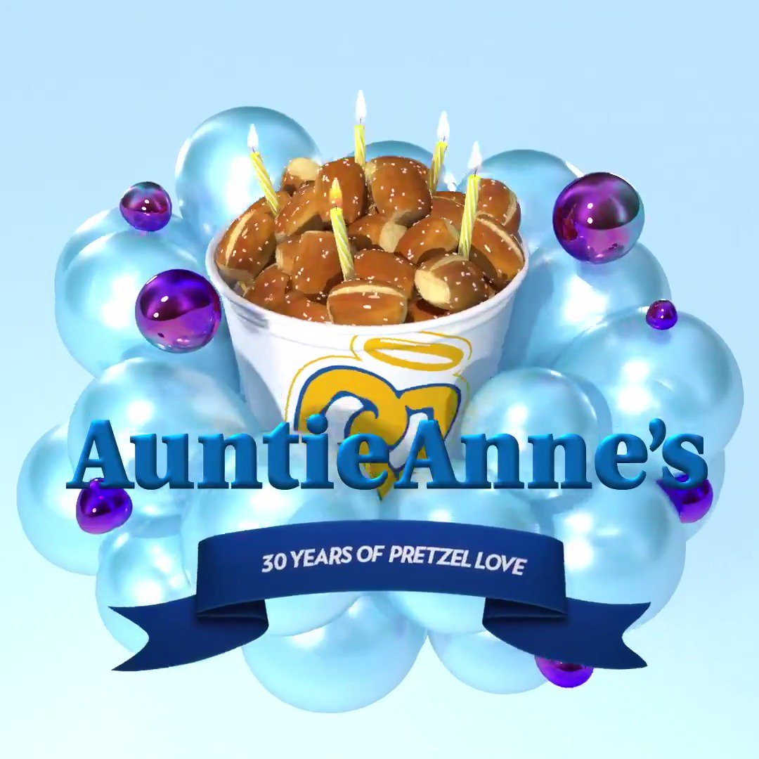 RSVP for free pretzels. Everybody's doing it. bit.ly/2Ca5rrN #HBDAuntieAnnes