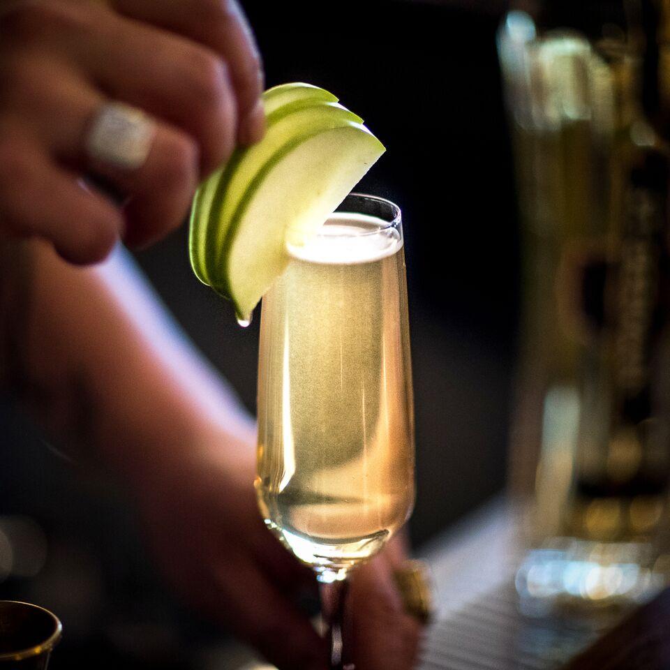 St germain liqueur champagne cocktail dress