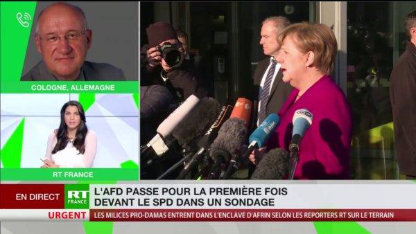 Allemagne : L'AFD passe pour la première fois devant le SPD dans un sondage https://t.co/JFWvcgTSZB