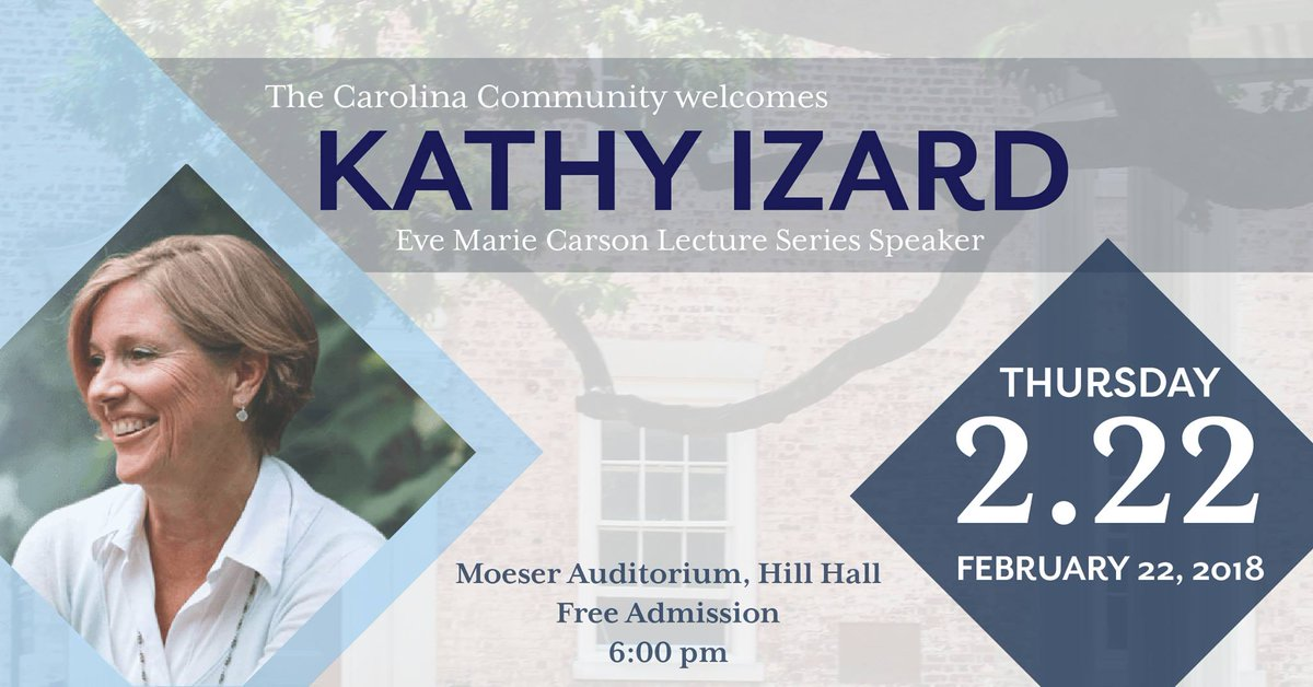 #UNC is excited to host author and activist @kathyizardclt as a speaker at the Annual Eve Marie Carson Lecture Series this Thursday https://t.co/gHYUKCObcc https://t.co/gzeGPiwVEH
