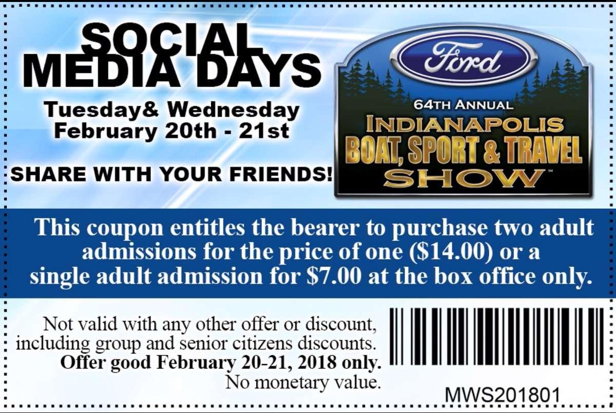 Indianapolis boat sport and travel show discount coupons