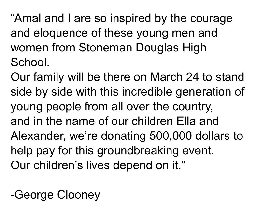 George Clooney will March For Our Lives ...