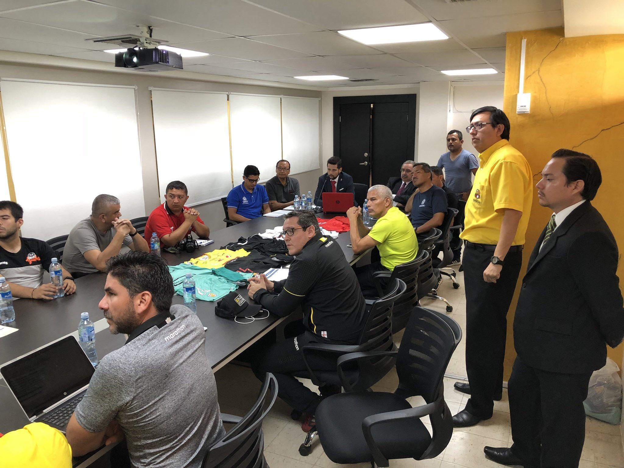 Reunión técnica #BSCvsGDI en Sala  de Reuniones del #MonumentalBcoPichincha  #CopaConmebolSudamericana https://t.co/X8udezK94g