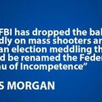 @piersmorgan: The FBI's appalling incompetence cost 17 lives and may have helped corrupt an election https://t.co/CujxT5muJh