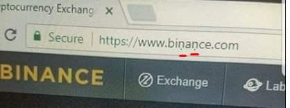 これはやばい。 binance偽サイト。 見分けがつかないです