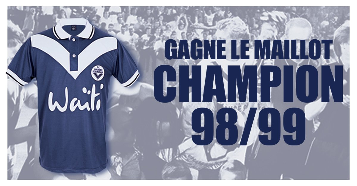 On repart de zéro et vous donne une deuxième chance 😉  RT et follow @girondins pour gagner le maillot hommage du titre de Champion de France 99 !