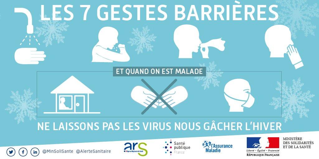 [#rendsunfilmplusmalade] Very bad grippe ↪Retrouvez les 7 gestes barrières pour passer un #HiverSansVirus❄: https://t.co/5TnL6XTRye