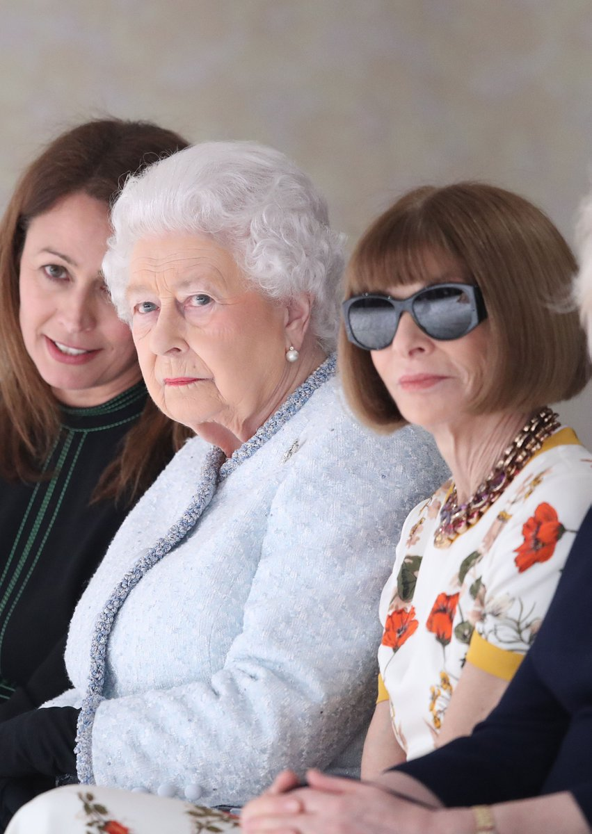 The Queen swaps the throne for the FROW at LFW: https://t.co/8kBmtApm2F