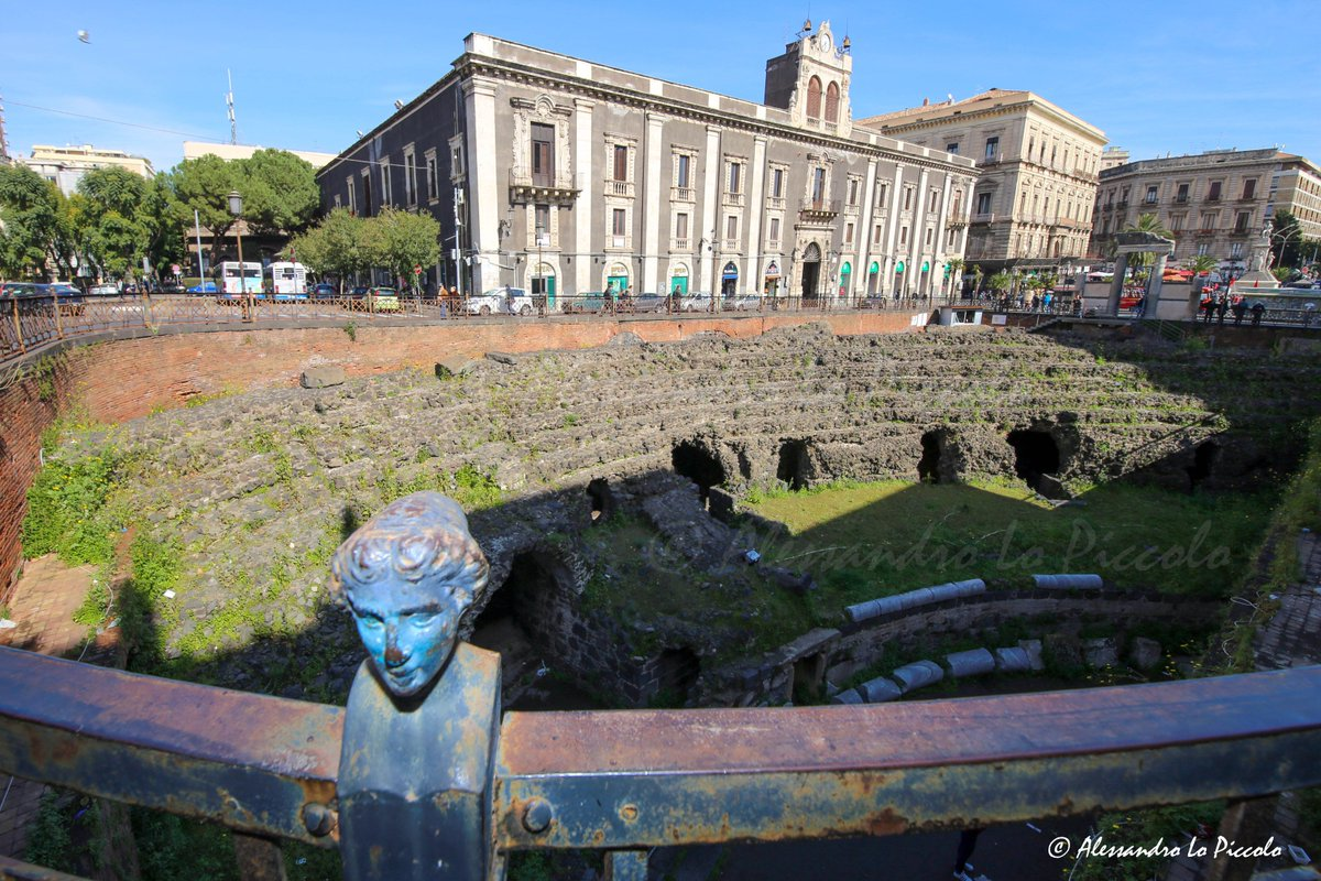 Ruins of the Ancient Roman Amphitheater...
