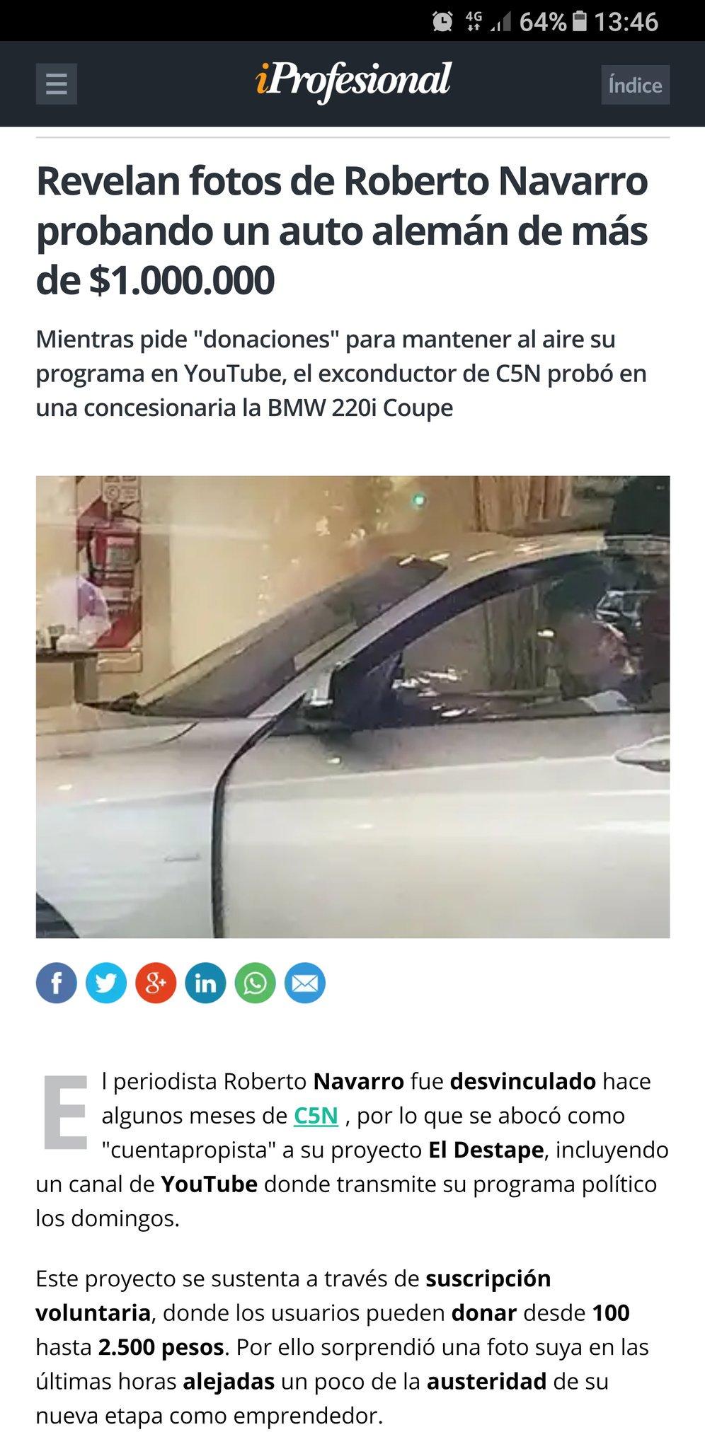 @eldestapeweb @robdnavarro, vos podrías contar más detalles del BMW. https://t.co/8TMbCMFahe