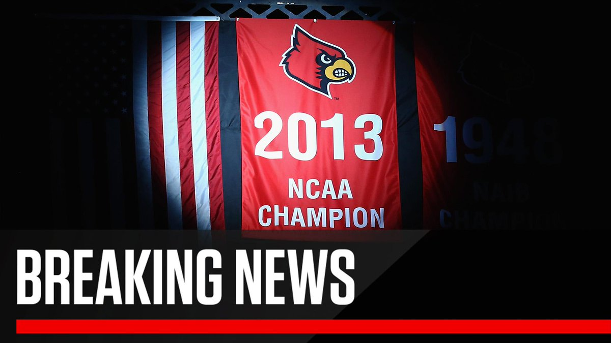 Breaking: Louisville will have to vacate its 2013 NCAA title and 2012 Final Four after the NCAA denied its appeal. They are the first D1 team to vacate a national title during the Final Four era.