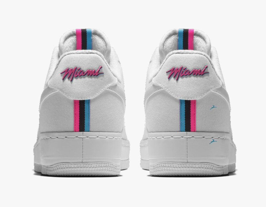 c1707903851b2c Nike Air Force 1 Low Premium iD  Miami Heat  City Edition is now available  via  NIKEiD    http   bit.ly 2HwyHbN pic.twitter.com fcD4VtmP6L