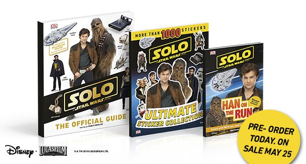 Did you catch the Solo: A @StarWars Story movie trailer yet? Our #Solo books go on sale May 25th, but are available for preorder now! bit.ly/2BvwQTX