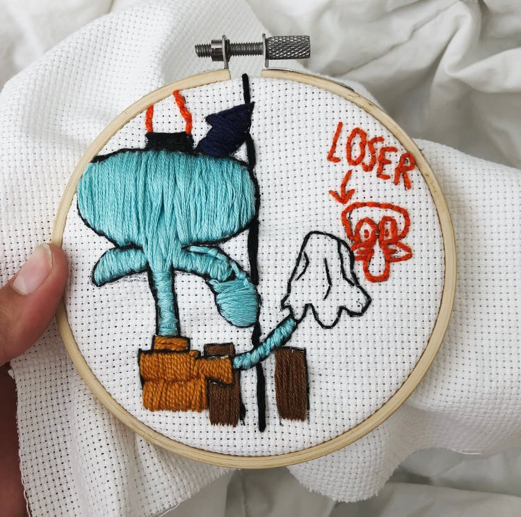 When your friend asks you to make em a cute embroidery