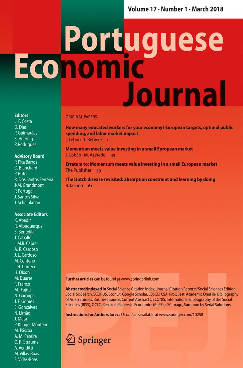 Portuguese economic journal on twitter the new issue of the portuguese economic journal on twitter the new issue of the portuguese economic journal is available now at httpstk9dytqz5tc pej economics publicscrutiny Image collections