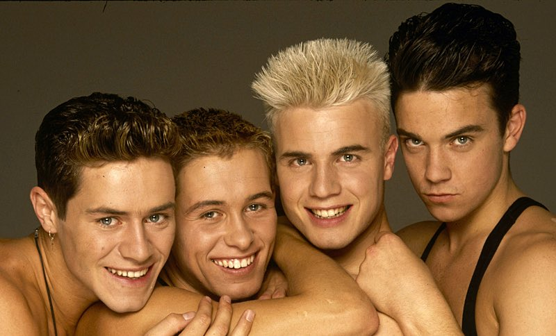 Take That Gary Barlow Shares Throwback Snaps Of Himself Nearly Naked With Bandmate Howard Donald