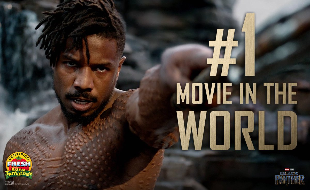 #BlackPanther is the #1 Movie in the Wor...