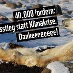 Ihr seid toll! Schon jetzt 40.000 Unterschriften für unsere #kohlefrei-Petition. Dankeeee!  Wer's noch nicht getan hat, kann hier unterzeichnen: https://t.co/1vhwdtUVBa Los, auf zu den nächsten 40.000! Für #Klimaschutz statt Klimakrise. Macht mit!