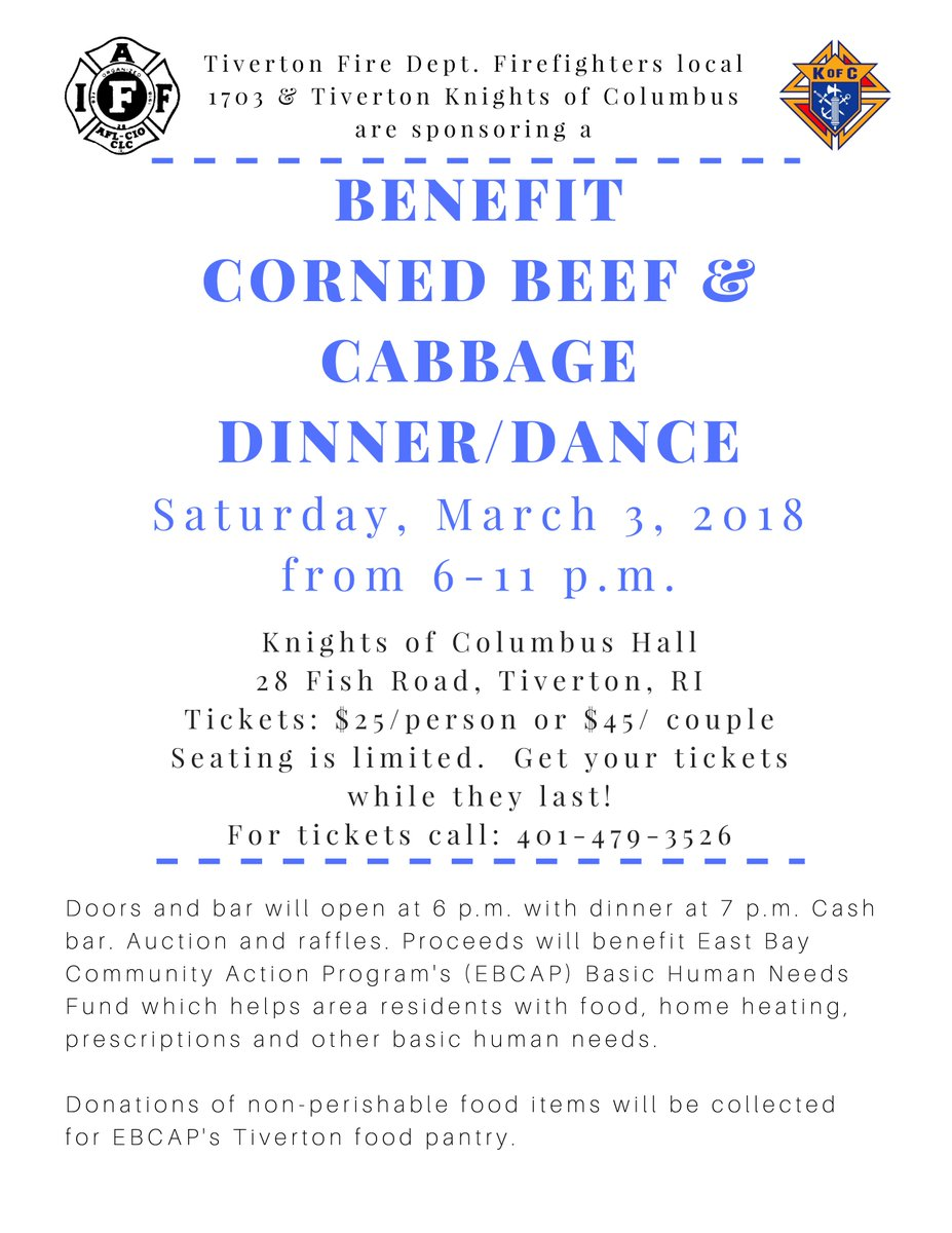 Join us for a benefit for EBCAP sponsored by the Tiverton Firefighters and Tiverton Knights of Columbus - Sat. March 3rd Tiverton Knights of Columbus.  sc 1 st  Twitter & EBCAP on Twitter: