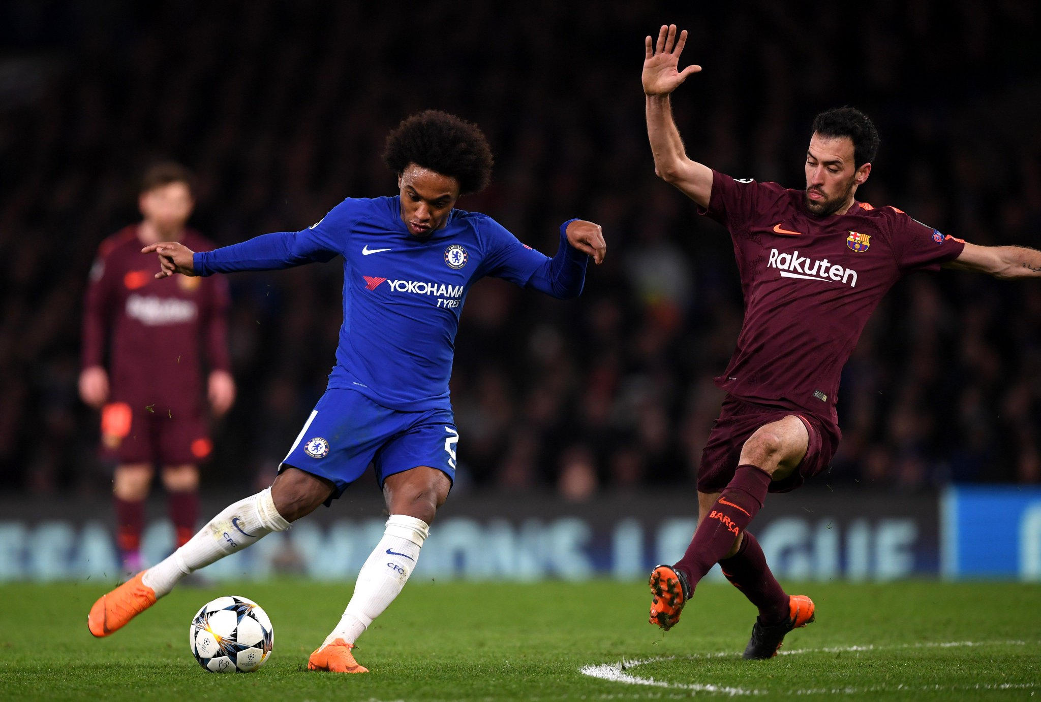 شاهد | ويليان يسجل هدف رائع لتشيلسي في شباك برشلونة