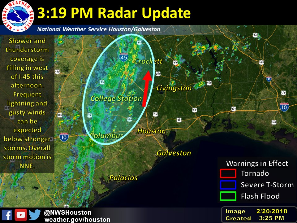 NWS Houston on Twitter 320 PM Radar Update Some thunderstorms