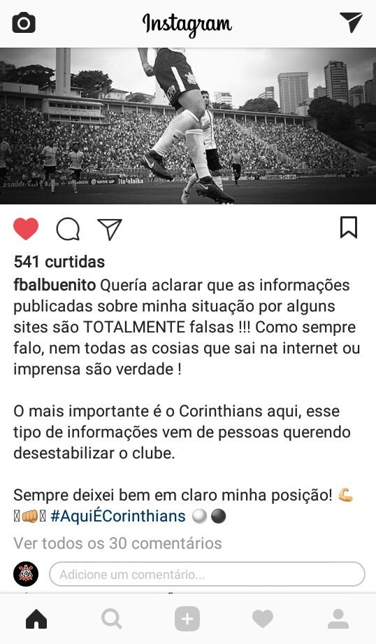 Balbuena Direto do Instagram : @_sccpnew...