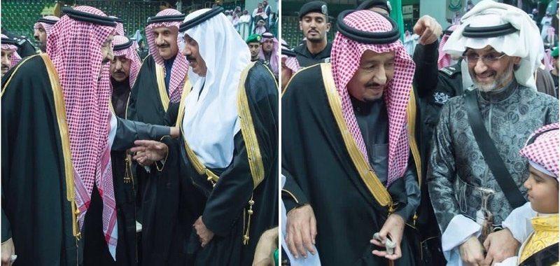 لقطتان عفويتان خلال #العرضة_السعودية تلج...
