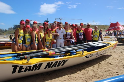Navy presents new surf boat and trailer...