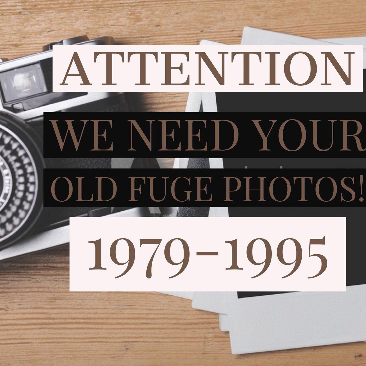 test Twitter Media - We are searching for photos and videos from FUGE Camps 1979-1995. If you have any, please send a copy of them to FUGE@LifeWay.com by March 1. We love a good classic! https://t.co/LdbNWv30gi