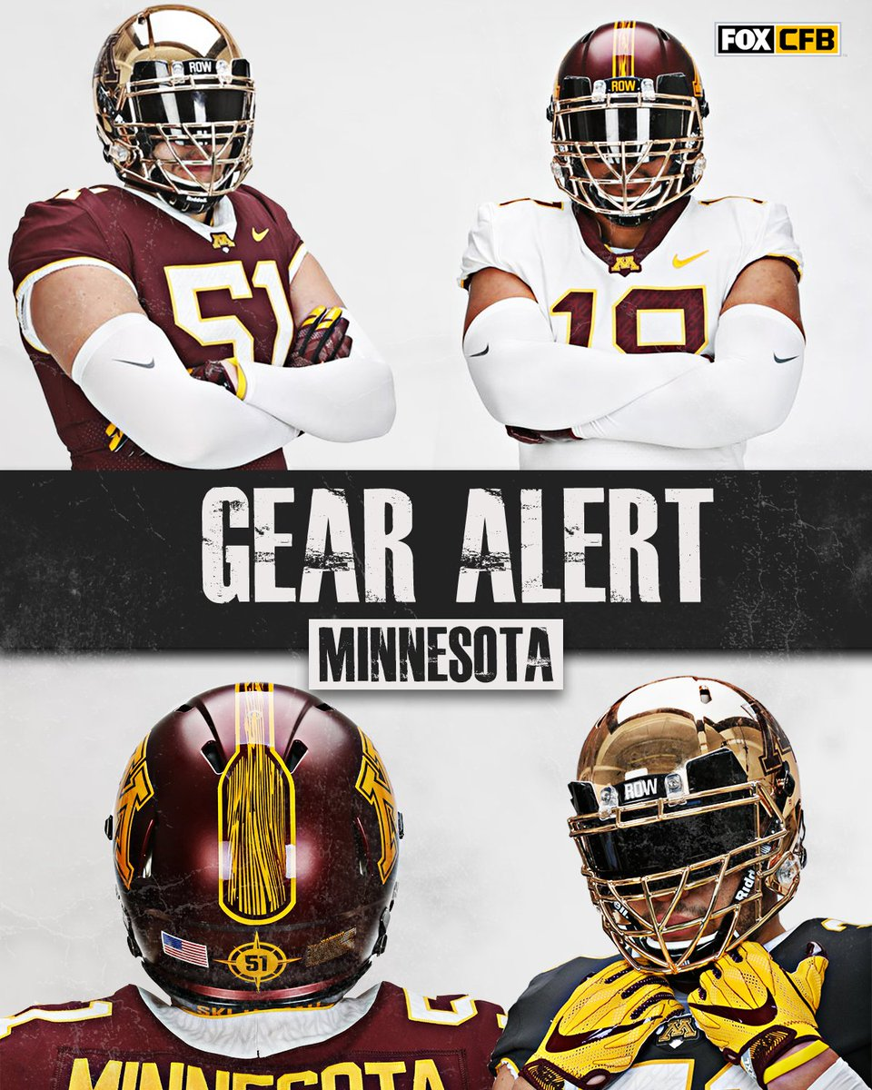 These new Row The Boat unis for @GopherFootball  are straight 🔥