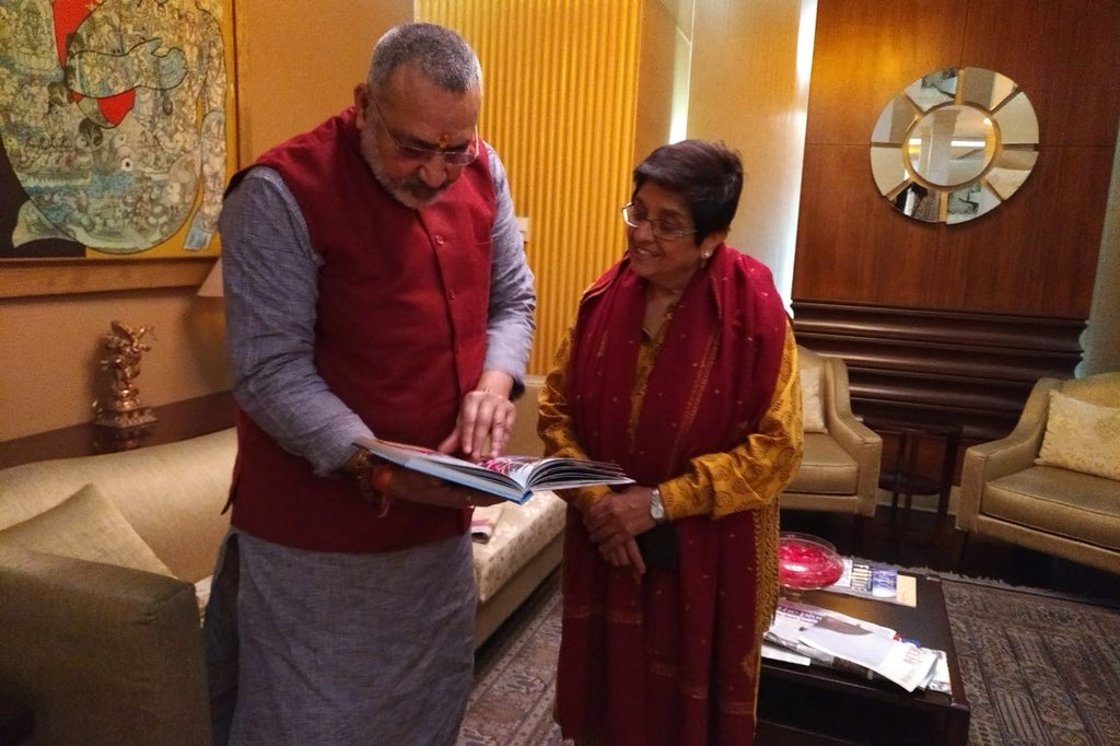A chance meeting at Delhi Airport with Honble Minister Shri GiriRaj Singh, Minister for MSME, GOI. Invited him to visit Puducherry to promote small and medium industry and encourage rural and urban entrepreneurship & employment.  Looking forward to your visit  ji.@girirajsinghbjp