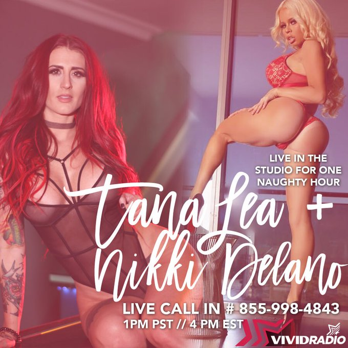 Lovers tomorrow I will be live on @VividRadioSXM 415 with the beautiful @thetanalea at 1pm pst/ 4pm est🌶