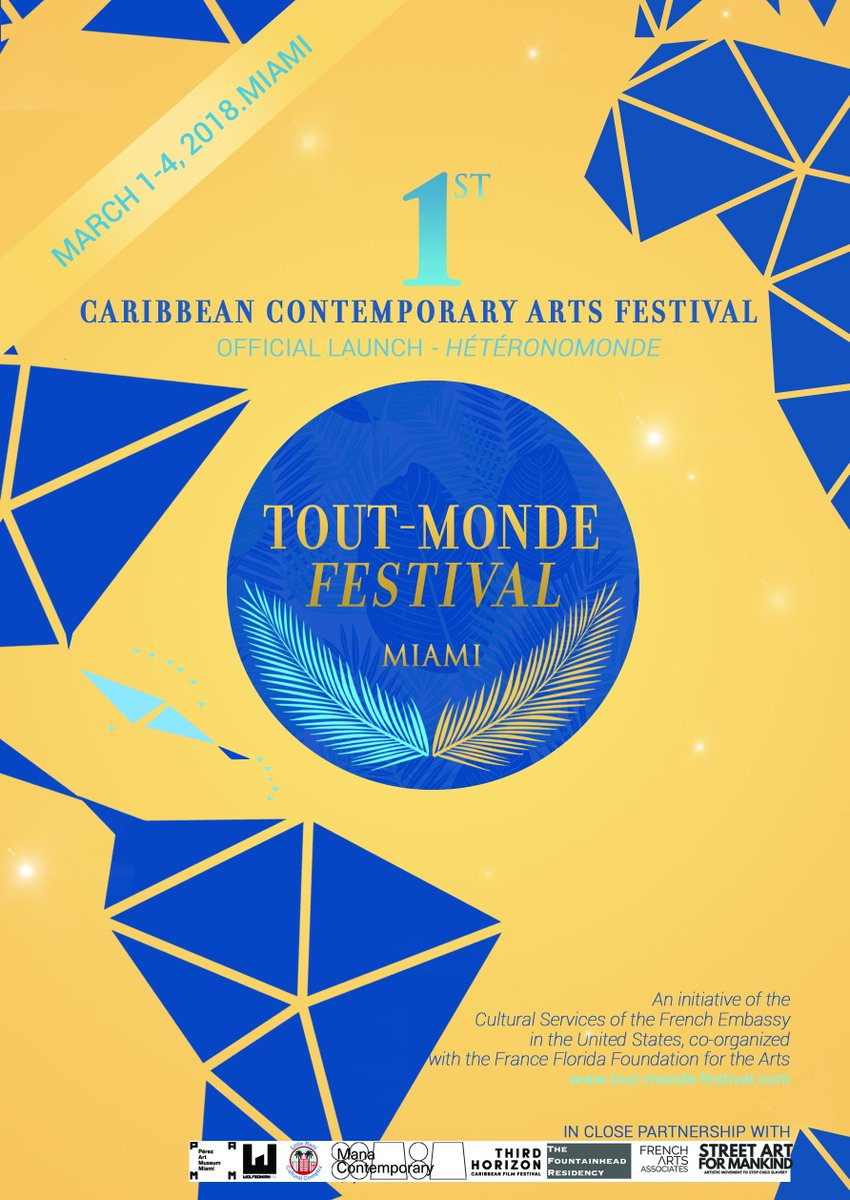 Take your FREE tickets tonight to attend the 1st Caribbean Contemporary Arts Festival in the U.S. that takes place in Miami next week! tout-monde-festival.com