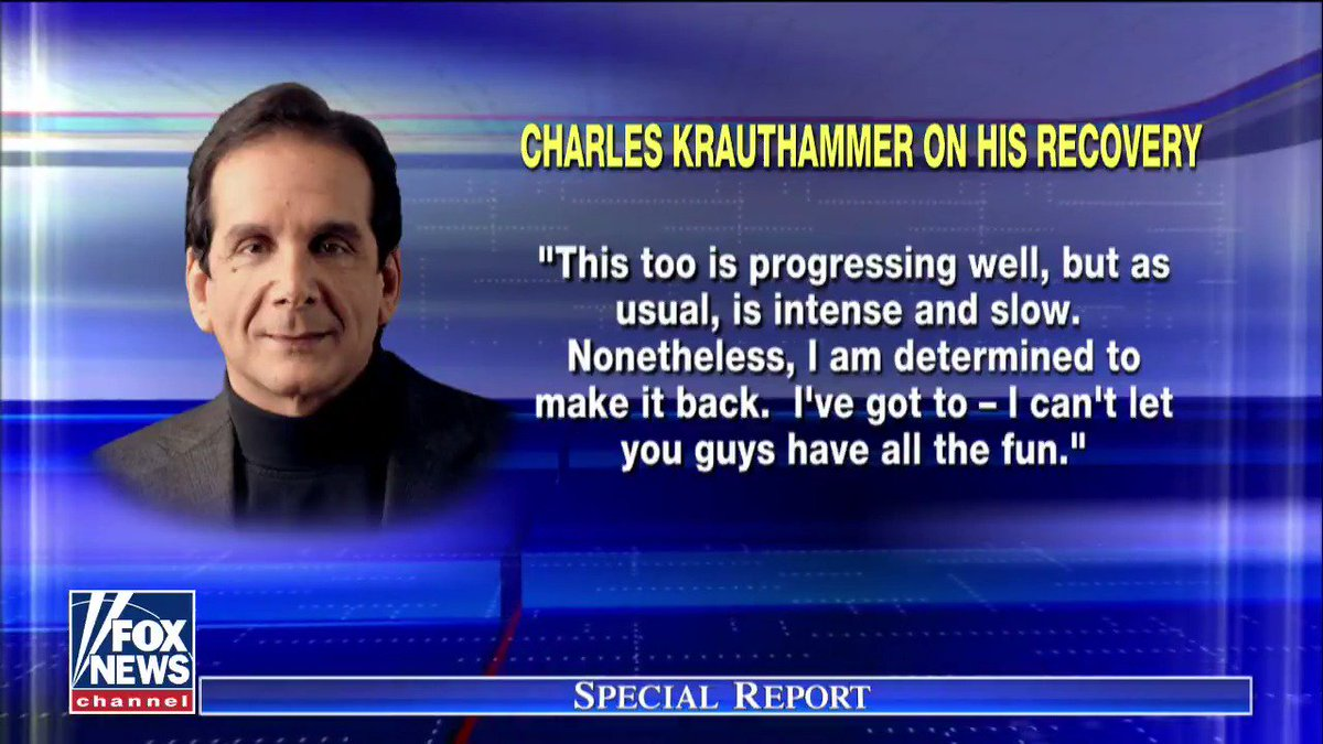 Charles Krauthammer offered a message to Fox News viewers regarding his health status