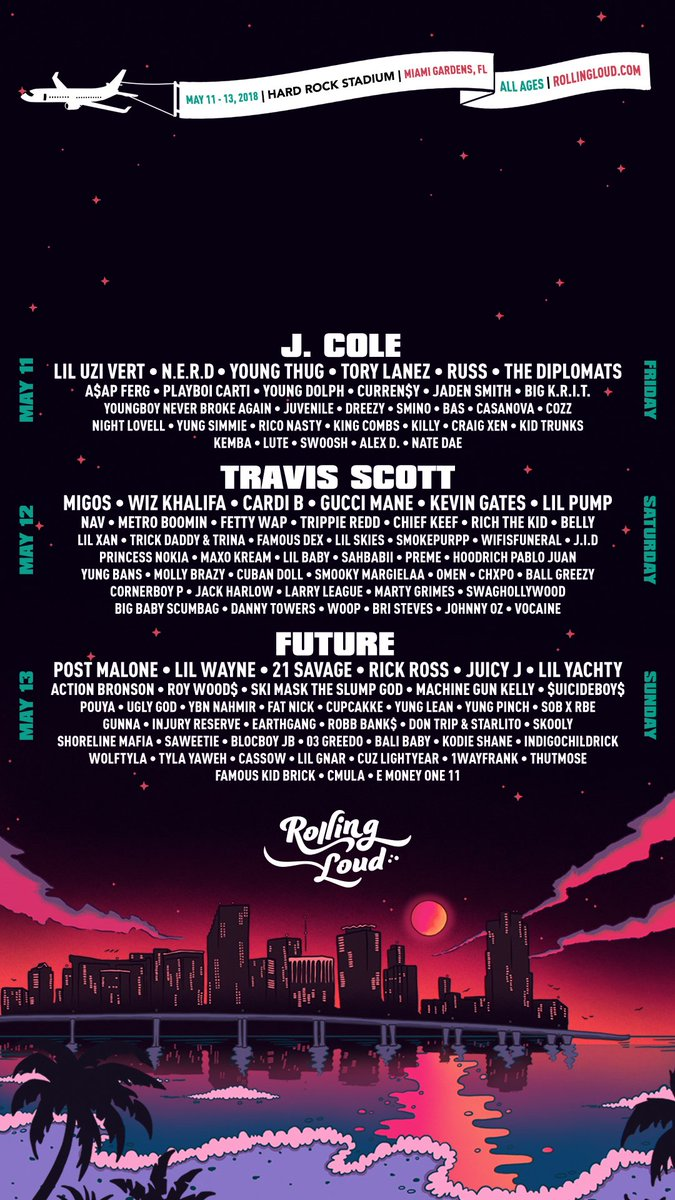 Rolling Loud On Twitter Miami 2018 Wallpaper IPhone 8 X Tco NekAncoVBH