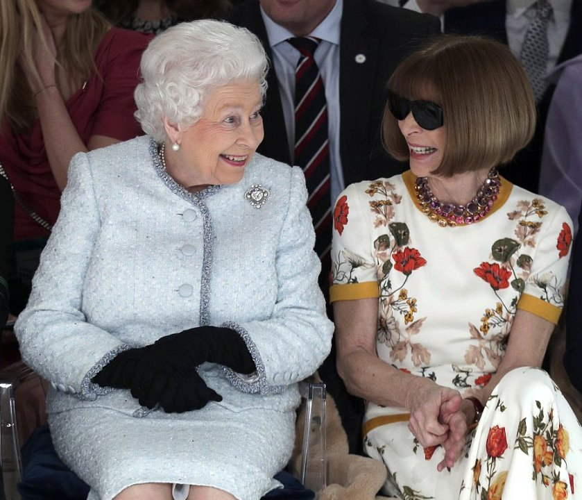 This picture of The Queen on the FROW sm...
