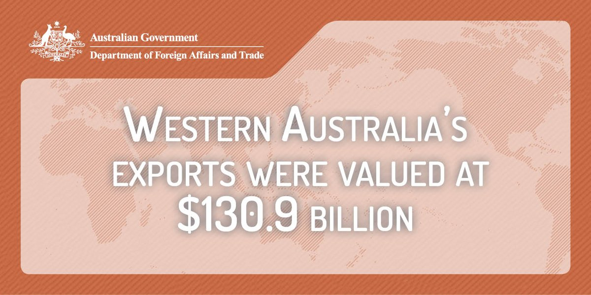 In 2016-17, #WA continued to be Australia's major exporter accounting for over a third of total #exports dfat.gov.au/about-us/publi…