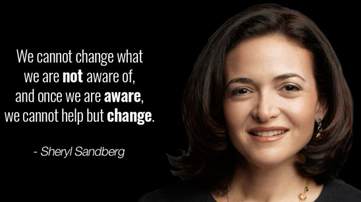 We cannot change what we are not aware of, and once we are aware, we cannot help but change. #Sheryl Sandberg  #Mindset #Entrepreneur #WednesdayWisdom<br>http://pic.twitter.com/TBombazoGl